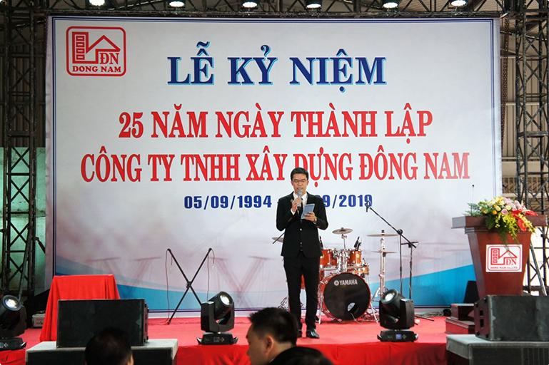 Lễ kỷ niệm 25 năm thành lập Công ty TNHH Xây Dựng Đông Nam ngày (05/09/1994 - 09/09/2019)