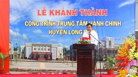Lễ khánh thành Trung Tâm hành chính huyện Long Điền
